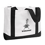 HBH™ 12 x 6 1/2 x 14  Bridesmaid Tote Bag, Black
