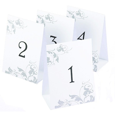 HBH™ Table Number Tents 1-40