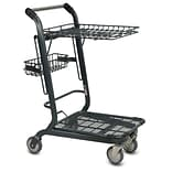 EXpress3556 Retractable Shopping Cart, Dark Gray