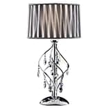 Ore International® 31 Lady Crystal Table Lamp, Black/White