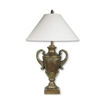 Ore International® 32 Trophy Cup Table Lamp, Antique Bronze