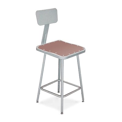 National Public Seating 33 Task Stool, Gray,(6324HB)