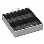 MMF Industries™ STEELMASTER® Five-Compartment Currency Tray, Black, 3 3/4H x 15 1/8W x 7D