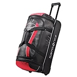 Samsonite® Andante 32 Drop Bottom Wheeled Duffle, Black/Red