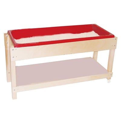 Wood Designs™ 46 Plywood Sand and Water Table With Lid/Shelf, Birch