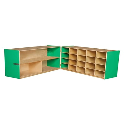 Wood Designs™ 30H Half and Half Storage Unit Without Trays, Green Apple