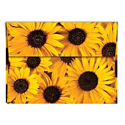 LUX® 70lb 5 1/4x7 1/4 A7 Invitation Envelopes W/Peel&Press; Sunflower Yellow, 500/BX