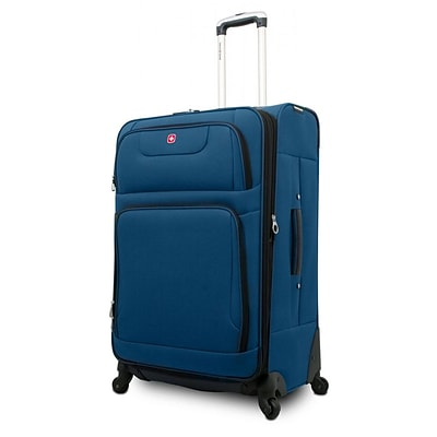 SwissGear® 28 Spinner Upright Luggage Suitcase, Blue With Black Accent