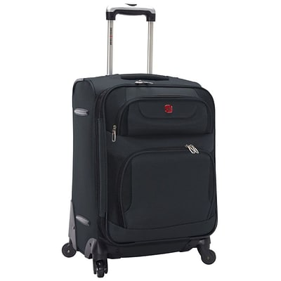 SwissGear® 20 Carry-On Spinner Upright Luggage Suitcase, Gray With Black Accent