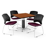 36 Burgundy SQR Cherry LAM Table W/4 CHR