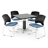 36 CNFLR BE SQR GRA NBL LAM Table W/4 CHR