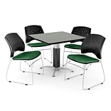 36 Forest GN SQR GRA NBL LAM Table W/4 CHR