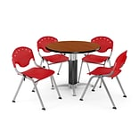36 Red RND Cherry Laminate Table W/4 CHR