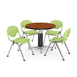 36 Lime Green RND Cherry LAM Table W/4 CHR
