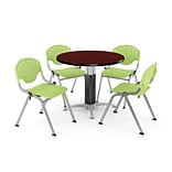 42 Lime Green RND MHGNY LAM Table W/4 CHR