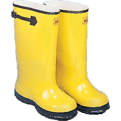 Mutual Industries 17 Over-The-Shoe Slush Boot, Yellow, Size 9