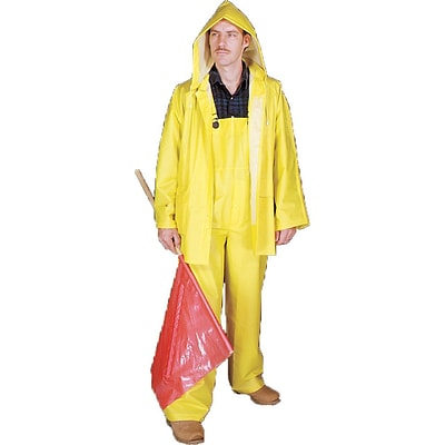Mutual Industries 0.35mm PVC/Polyester 3 Piece Rainsuit; Yellow, 3XL