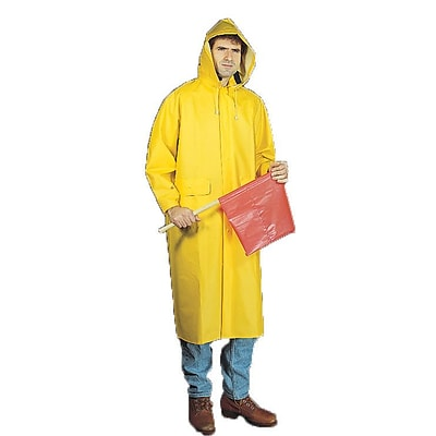 Mutual Industries 0.35mm PVC/Polyester 2 Piece Raincoat; Yellow, 3XL