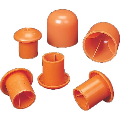 Mutual Industries #3 - #9 Standard Rebar Safety Cap, Orange, 500/Box