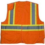 XL OR ANSI CLS 2 Solid Tearaway Safety Vest