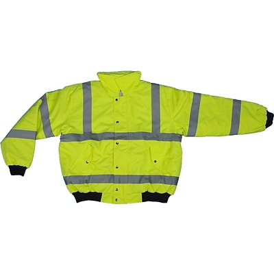 Mutual Industries MiViz ANSI Class 3 Bomber Jacket, Lime, 4XL
