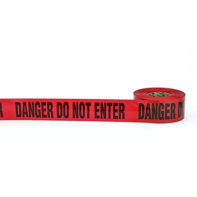 Mutual Industries DANGER DO NOT ENTER Barricade Tape, 3 x 1000, Red, 10/Box