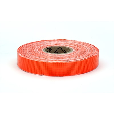 Mutual Industries Reinforced Barricade Tape, 3/4 x 50 yds., Glo Orange, 10/Box