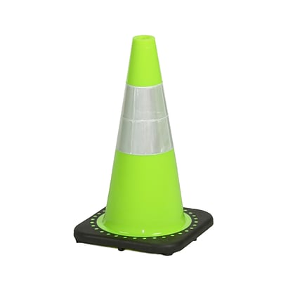 Mutual Industries 3 lbs. Reflective Traffic Cone, 18, Lime