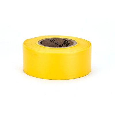 Mutual Industries Ultra Standard Flagging Tape, 1 3/16 x 100 yds., Yellow, 12/Box