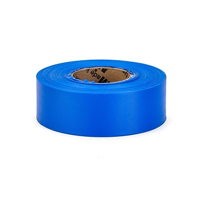 Mutual Industries Ultra Glo Flagging Tape, 1-3/16 x 50 Yds, Blue, 12/Box
