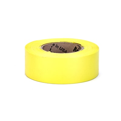 Mutual Industries Ultra Glo Flagging Tape, 4 x 15, Chartruese, 12/Box