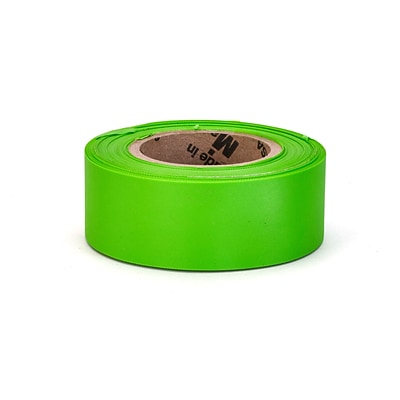 Mutual Industries Ultra Glo Flagging Tape, 4 x 15, Lime, 12/Box