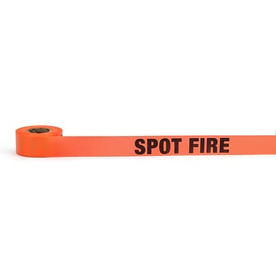 Mutual Industries Spot Fire Printed Flagging Tape, 1 1/2 x 50 yds., Glo Pink, 10/Box