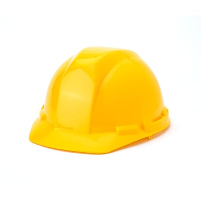 Mutual Industries 6-Point Ratchet Suspension Hard Hat; Yellow