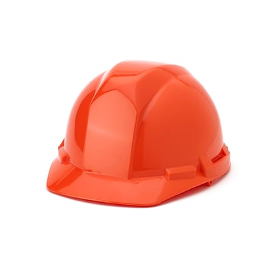 Mutual Industries 4-Point Pin Lock Suspension Hard Hat; Orange