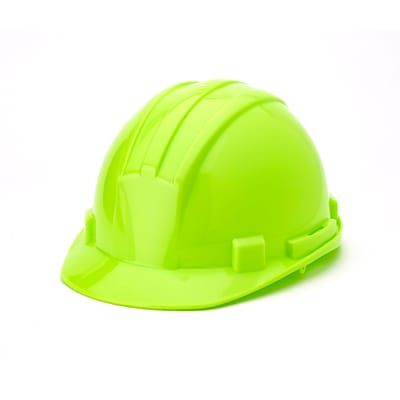 Mutual Industries 6-Point Ratchet Suspension Hard Hat; Hi-Vis Lime