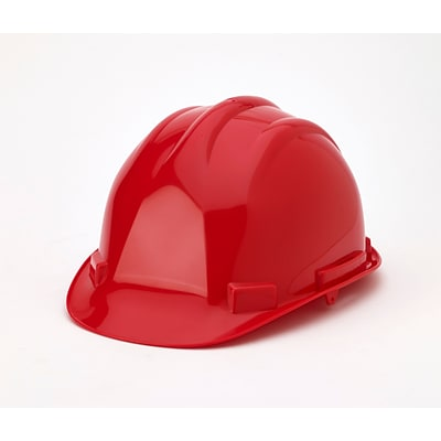 Mutual Industries 6-Point Ratchet Suspension Hard Hat; Red
