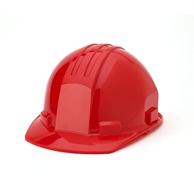 Mutual Industries 4-Point Pin Lock Suspension Hard Hat; Red