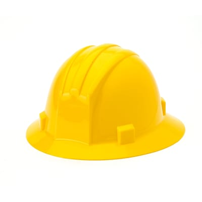 Mutual Industries Full Brim Hard Hat, Yellow
