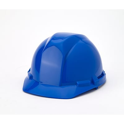 Mutual Industries 4-Point Pin Lock Suspension Hard Hat; Blue