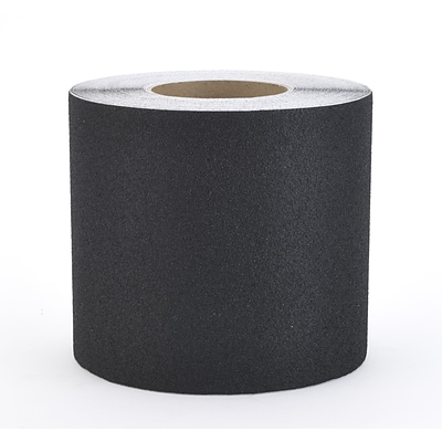 Mutual Industries Non-Skid Abrasive Safety Tape, 6 x 60, Black