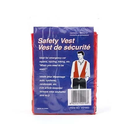 Mutual Industries MiViz High Visibility Disposable Safety Vest, Blaze Orange