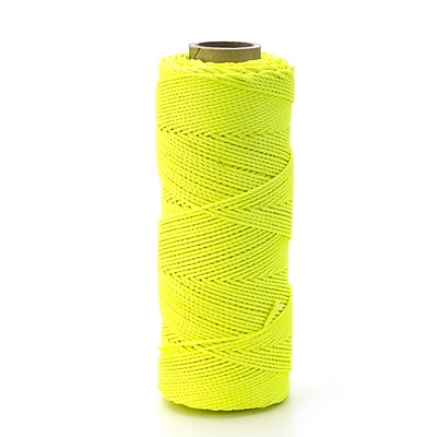 Mutual Industries Braided Nylon Mason Twine, 18 x 1000, Glo Lime