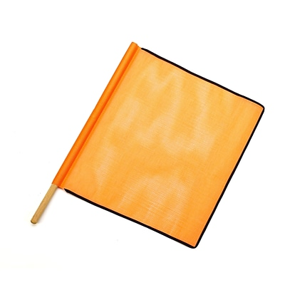 Mutual Industries Heavy-Duty Open Mesh Safety Flag With Black Binding, 18 x 18 x 24,Orange,10/Box