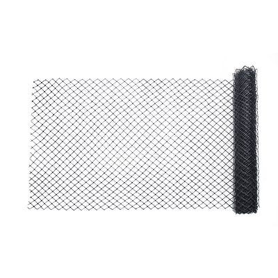 Mutual Industries Diamond Link Fence, 4 x 50, Black