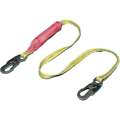 Mutual Industries 6 ABS Plastic Lightweight Shock Absorbing Lanyard With Locking Snap Hook
