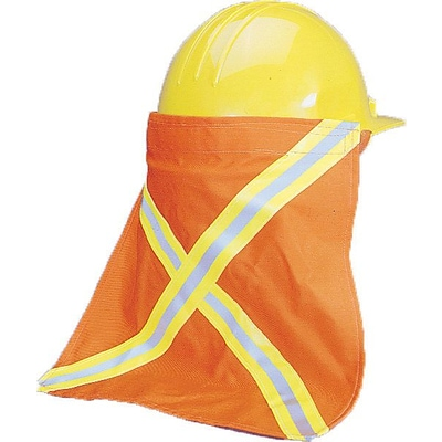 Mutual Industries Kromer Nape Protector With Reflective Stripes, Orange, 13 1/2 x 13, 12/Pack