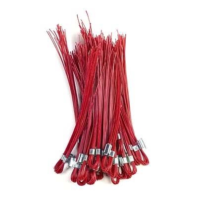 Mutual Industries Stake Whiskers, 6, Red, 500/Box