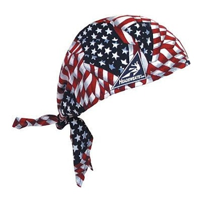 Mutual Industries Kromer Cotton Coolhead Wrap, American Flag, 6/Pack