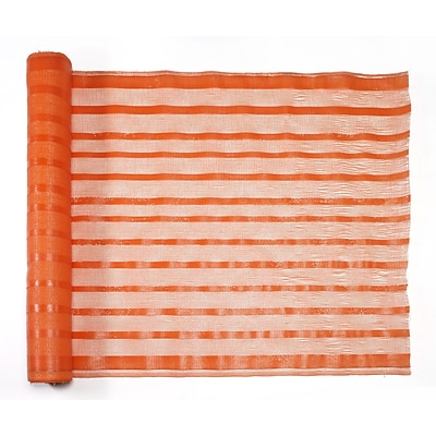 Mutual Industries Fabric Barricade Safety Fence, 4 x 150, Orange